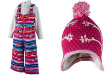 Obermeyer Girls 2pc Set Snoverall Bib SnowPants and Hat, Size 3, NWT