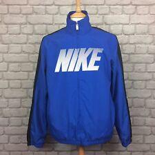 Nike Da Uomo UK L Blu Poly Giacca Elegante Casual Cerniera Intera