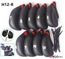 9pcs/set H12-R A99 Golf Rubber Club Iron Putter Head Covers