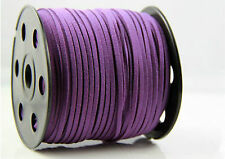 10yd Wholesale 3mm Suede Leather String Jewelry Making Bracelet DIY Thread Cord Purple