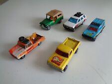 Set of 5 - vintage Matchbox Pick up truck Matra Rancho Frontera Jeep