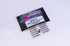 Atomic RC #AR-074 Kyosho Mini-Z King Pin C-Clips (2 Stk.) Nylon f. MR-03, MR-02