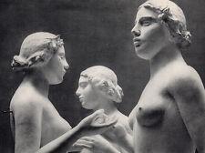 """Lovely 1930s Blumenfeld Vintage Photogravure """"Trois Nymphes, Paris"""" FRAMED COA"""