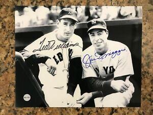 Ted Williams & Joe DiMaggio Autographed 8x10 Photo with COA