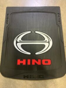 "HINO Black /Red Mud Flaps   logo 24""x 30""  (PAIR) HD Rubber  LIMITED Edition"