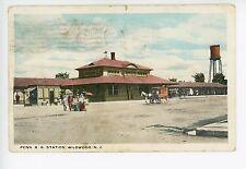 Penn RR Station Train Depot WILDWOOD NJ Rare Jersey Shore PC ca. 1919