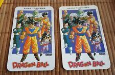 DRAGON BALL Z lot de 2 carte special calendrier Glénat 1996 + 1998 rare