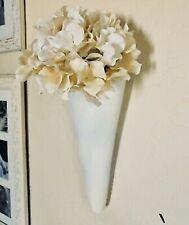 "Pottery Barn Wall Vase Ceramic Florist Flower Wrap Sconce Pottery 15.5"" X 5.5"""