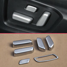 Matte Chrome Car Seat Adjust Buttons Cover For Mazda CX-5 2017 2018 Accessories