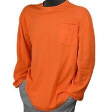 5XL Orange Birdseye M-Safe fabric Safety Shirt Orange Long Sleeve