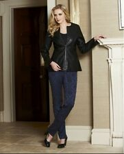 Marisota Pu Peplum Jacket Black UK 20 RRP £52 Box12 99 c