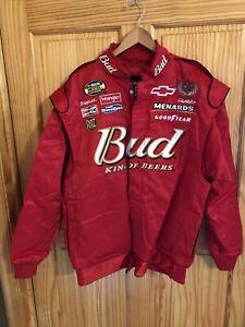 NASCAR Racing Large Men's Autographed Dale Earnhardt Jr Coat Jacket Red (NJ-259