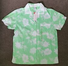 Ladies size 8 10 NIGHT SHIRT GREEN FLORAL PATTERN SHIRT ONLY Nightie Target NEW