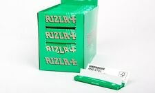 New Sealed Box (100 Booklets) Rizla Green Rolling Paper Single Size Cut Corners