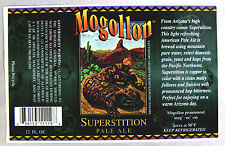 Mogollon Brewing SUPERSTITION PALE ALE paper beer label AZ 12oz