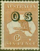 Australia 1932 6d Chestnut SG0127 Fine Mtd Mint