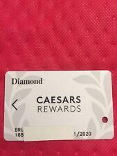 New listing Caesars Rewards Diamond Card Prefix #168 Expires 01/2020 ©�2019