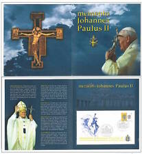 VATICANO SEDE VACANTE 2005 - FOLDER CON FDC = MEMENTO JOHANNES PAULUS II