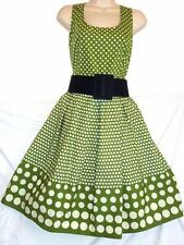 SIZE 12 VINTAGE 1950'S STYLE ROCKABILLY RETRO POLKA DOT SPOTTY DRESS US 8 EU 40