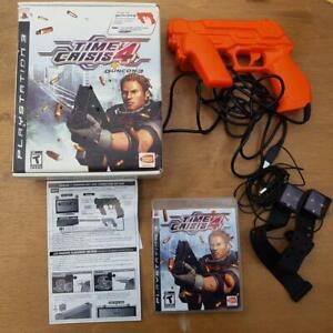 Playstation 3 PS3 Time Crisis 4 Game Guncon 3 Set Sensors Cables big box NTSC