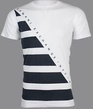 Armani Exchange diagonal Designer Masculino T-shirt Premium Slim Fit Branco $45