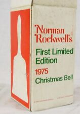 Norman Rockwell's First Limited Edition 1975 Christmas Bell