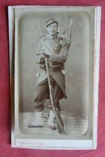 CDV Photo militaire en pied du 91e RI ca 1870 photographie VASSOGNE CHARLEVILLE