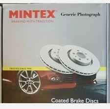 BRAKE DISCS COATED X2 FRONT FITS HONDA JAZZ LOGO MK2 MINTEX MDC1602C