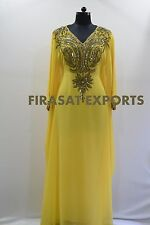Dubai Abaya Sequins Dress Muslim Women Kaftan Burka Arab Maxi Gown Turkey Robe L