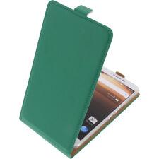 Funda para Alcatel A3 XL Protectora Teléfono Móvil con Tapa Verde
