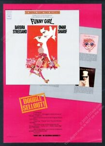 1968 Barbra Streisand Funny Girl movie soundtrack release vintage trade print ad