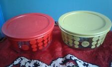 Pyrex Anniversary Storage Containers Red and Green 1915 Dot 4 Cup