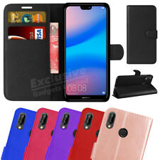 Case For Huawei P20 Lite Phone Luxury Leather Magnetic Flip Wallet Stand Cover