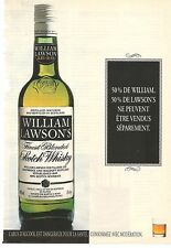 PUBLICITE 1993 Whisky WILLIAM LAWSON