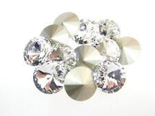 Swarovski Foiled Rivoli Stones Art.1122 12mm Crystal 12 Pieces cc
