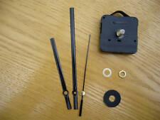 QUARTZ CLOCK MECHANISM LONG SPINDLE. 130mm BLACK HANDS