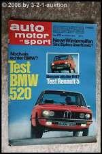 AMS Auto Motor Sport 22/72 * BMW 520 R5 Porsche Carrera Fiat 126