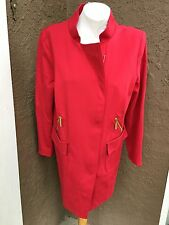 New $159 Chico's Renaissance Red Sleek Ponte Topper Jacket SZ 3 XL 16 18 NWT Top