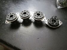 4 New Celenex Octal tube amp sockets PlugIn Replacements for Most Fenders