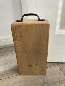 Wooden Door Stop, Approx 1kg, Suitable for Lightweight Doors, Reclaimed Timber