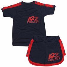 Kids Shorts Set Boys Girls T-shirt Sports Navy Summer Outfits Shorts 2 Piece