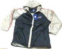 Buffalo Bills NFL Reebok Lined Football Mens 2XL Puffer Jacket Zip Front NWT