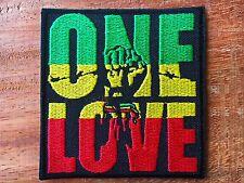 New BOB Marley One Love Music Reggae Ska Rasta V01 Applique Iron on Patch Sew