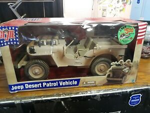 2002 GI Joe Jeep Desert Patrol Vehicle. Hasbro #53311. NOS NIB & Complete NO RES