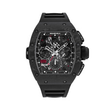 Richard Mille RM 11-02 Automatic Flyback Chronograph Dual Time Zone Jet Black...