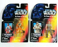 Bad Card Lot Star Wars POTF Luke Skywalker X-Wing Dagobah Long Tray Short Saber