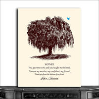 (CWA-1043) Personalized Mother Willow Tree You Gave Me Roots Taught Me To Ben...