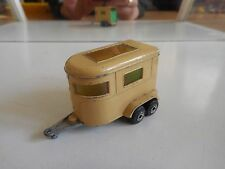 Matchbox Superfast pony trailer in Light Brown