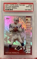 2001 Topps Own The GM #PS2 Peyton Manning Perfect Spiral PSA Gem Mint 10 Colts