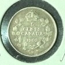 Canada  5 Ceents  KM 13  VF  1903 H